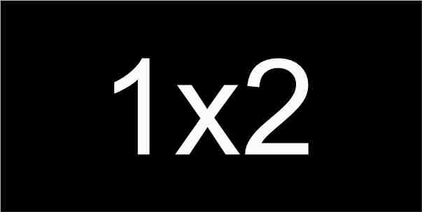1X2 Black / White