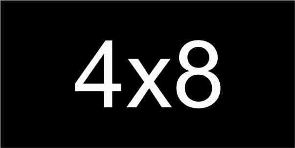4X8 Black / White