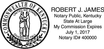 Product Options And Custom Information Notary Name
