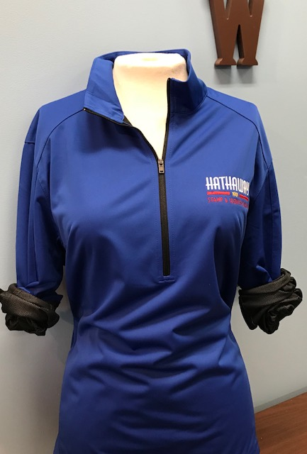 Blue Jacket with Multi Color Logo