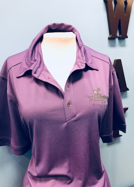 Purple Polo with Grey Logo