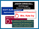 Engraved Nameplates, Badges, & Signs