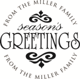 CS-50076 - Designer Address - Season's Greetings