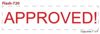 FLASH_720 - Flash Stamp<BR><font color=red>Sample Impression