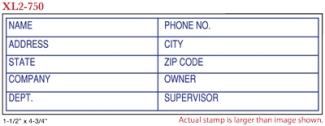 FLASH_750 - Flash Stamp<BR><font color=red>Sample Impression